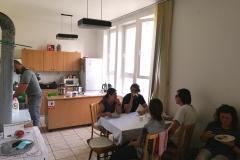 Hlinené omietky – obed Hlinené omietky - partia