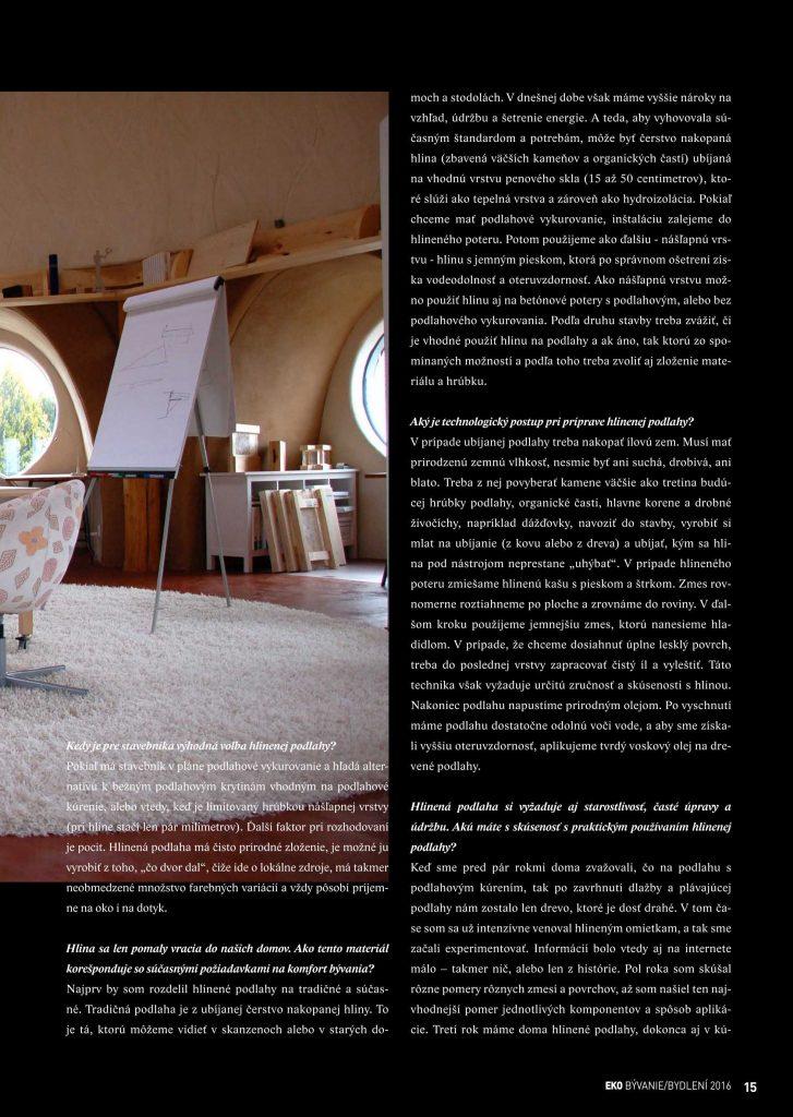 hlinená podlaha - info